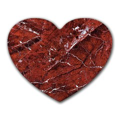 Texture Stone Red Heart Mousepads
