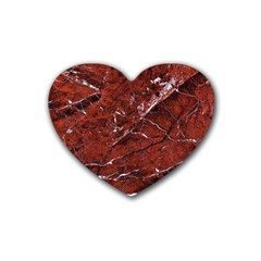 Texture Stone Red Rubber Coaster (Heart)