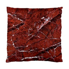 Texture Stone Red Standard Cushion Case (One Side)