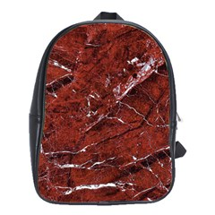 Texture Stone Red School Bags(Large)