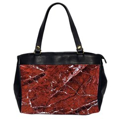 Texture Stone Red Office Handbags (2 Sides)