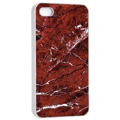 Texture Stone Red Apple Iphone 4/4s Seamless Case (white)