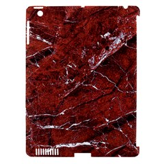Texture Stone Red Apple iPad 3/4 Hardshell Case (Compatible with Smart Cover)
