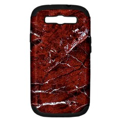 Texture Stone Red Samsung Galaxy S III Hardshell Case (PC+Silicone)