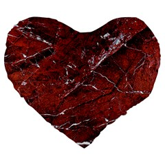 Texture Stone Red Large 19  Premium Heart Shape Cushions