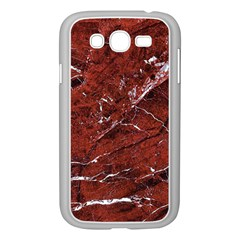 Texture Stone Red Samsung Galaxy Grand DUOS I9082 Case (White)