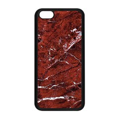 Texture Stone Red Apple iPhone 5C Seamless Case (Black)