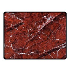 Texture Stone Red Double Sided Fleece Blanket (Small)