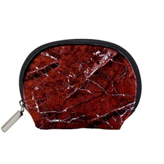 Texture Stone Red Accessory Pouches (small)