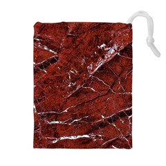 Texture Stone Red Drawstring Pouches (Extra Large)