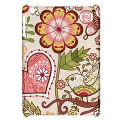 Seamless Texture Flowers Floral Rose Sunflower Leaf Animals Bird Pink Heart Valentine Love Apple iPad Mini Hardshell Case