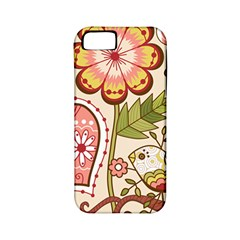 Seamless Texture Flowers Floral Rose Sunflower Leaf Animals Bird Pink Heart Valentine Love Apple iPhone 5 Classic Hardshell Case (PC+Silicone)