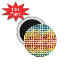 Weather Blue Orange Green Yellow Circle Triangle 1 75  Magnets (100 Pack)