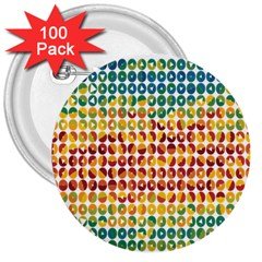 Weather Blue Orange Green Yellow Circle Triangle 3  Buttons (100 pack)