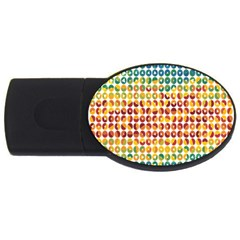 Weather Blue Orange Green Yellow Circle Triangle USB Flash Drive Oval (1 GB)