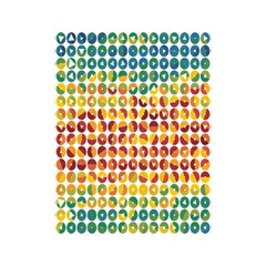Weather Blue Orange Green Yellow Circle Triangle Shower Curtain 48  x 72  (Small)