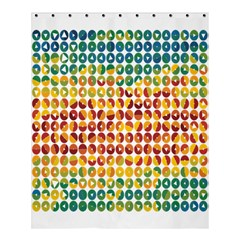 Weather Blue Orange Green Yellow Circle Triangle Shower Curtain 60  X 72  (medium)
