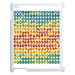 Weather Blue Orange Green Yellow Circle Triangle Apple iPad 2 Case (White)