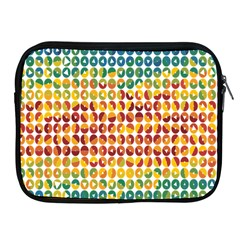 Weather Blue Orange Green Yellow Circle Triangle Apple iPad 2/3/4 Zipper Cases