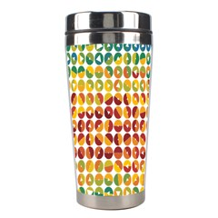Weather Blue Orange Green Yellow Circle Triangle Stainless Steel Travel Tumblers