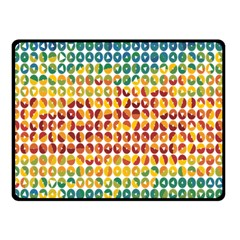Weather Blue Orange Green Yellow Circle Triangle Double Sided Fleece Blanket (Small)