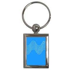 Waves Blue Sea Water Key Chains (Rectangle)