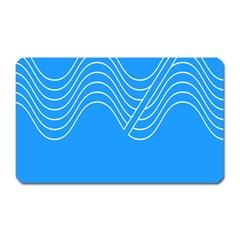 Waves Blue Sea Water Magnet (Rectangular)