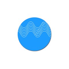 Waves Blue Sea Water Golf Ball Marker (4 pack)