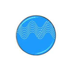 Waves Blue Sea Water Hat Clip Ball Marker (4 Pack)
