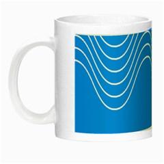 Waves Blue Sea Water Night Luminous Mugs