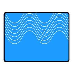 Waves Blue Sea Water Fleece Blanket (small)