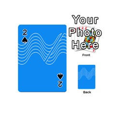 Waves Blue Sea Water Playing Cards 54 (Mini)
