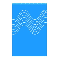 Waves Blue Sea Water Shower Curtain 48  x 72  (Small)