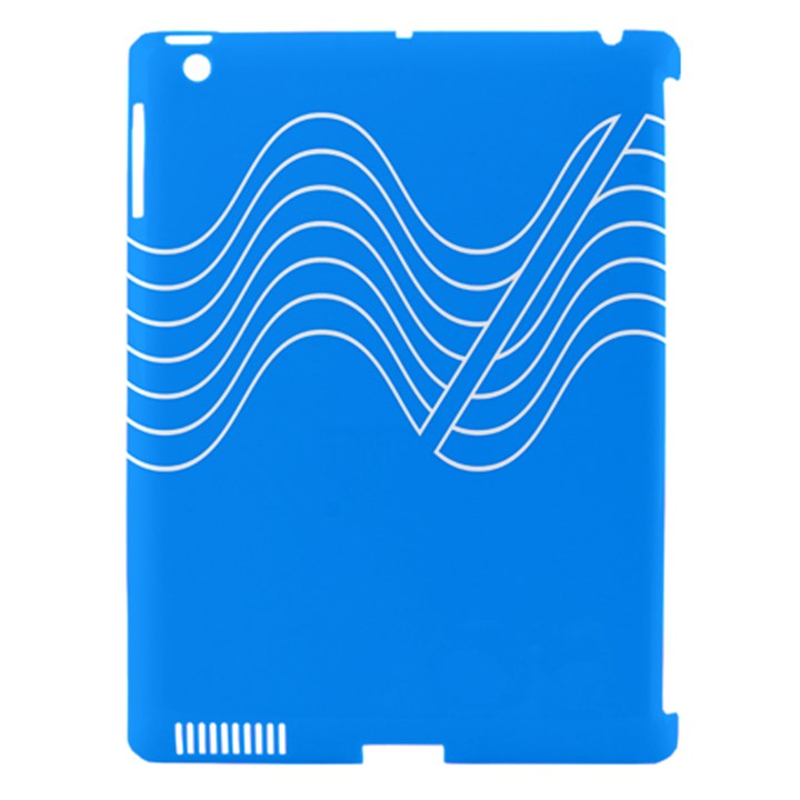 Waves Blue Sea Water Apple iPad 3/4 Hardshell Case (Compatible with Smart Cover)