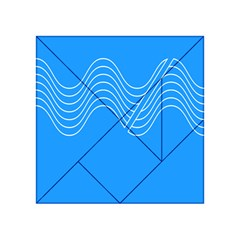 Waves Blue Sea Water Acrylic Tangram Puzzle (4  x 4 )
