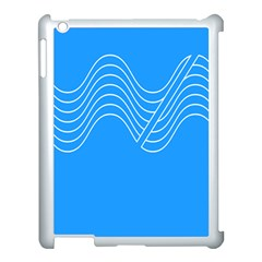 Waves Blue Sea Water Apple iPad 3/4 Case (White)