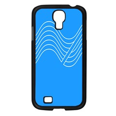 Waves Blue Sea Water Samsung Galaxy S4 I9500/ I9505 Case (Black)