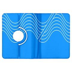 Waves Blue Sea Water Kindle Fire HDX Flip 360 Case