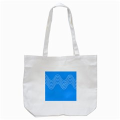 Waves Blue Sea Water Tote Bag (White)