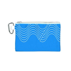 Waves Blue Sea Water Canvas Cosmetic Bag (S)