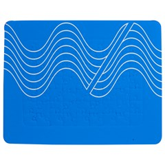 Waves Blue Sea Water Jigsaw Puzzle Photo Stand (Rectangular)
