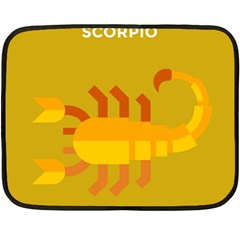 Animals Scorpio Zodiac Orange Yellow Fleece Blanket (Mini)