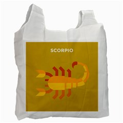 Animals Scorpio Zodiac Orange Yellow Recycle Bag (One Side)