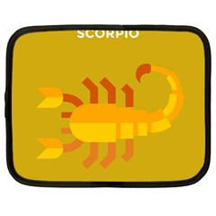 Animals Scorpio Zodiac Orange Yellow Netbook Case (XL)