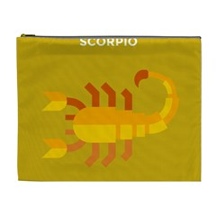 Animals Scorpio Zodiac Orange Yellow Cosmetic Bag (XL)