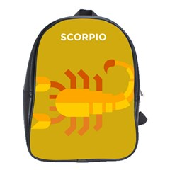 Animals Scorpio Zodiac Orange Yellow School Bags(Large)