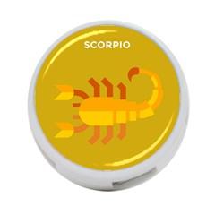 Animals Scorpio Zodiac Orange Yellow 4-Port USB Hub (One Side)