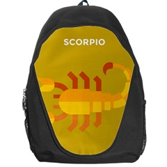 Animals Scorpio Zodiac Orange Yellow Backpack Bag