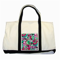 Frosted Sea Glass Two Tone Tote Bag