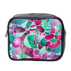 Frosted Sea Glass Mini Toiletries Bag 2-Side